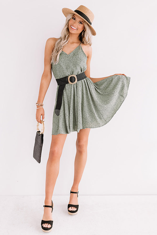 Chic Surroundings Shift Dress In Sage