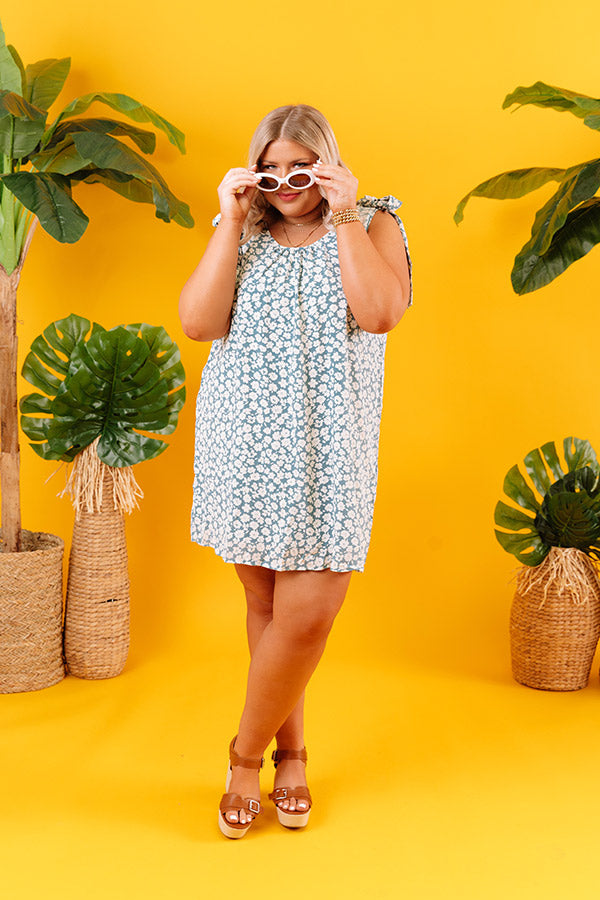 Kauai Cute Shift Dress In Airy Blue