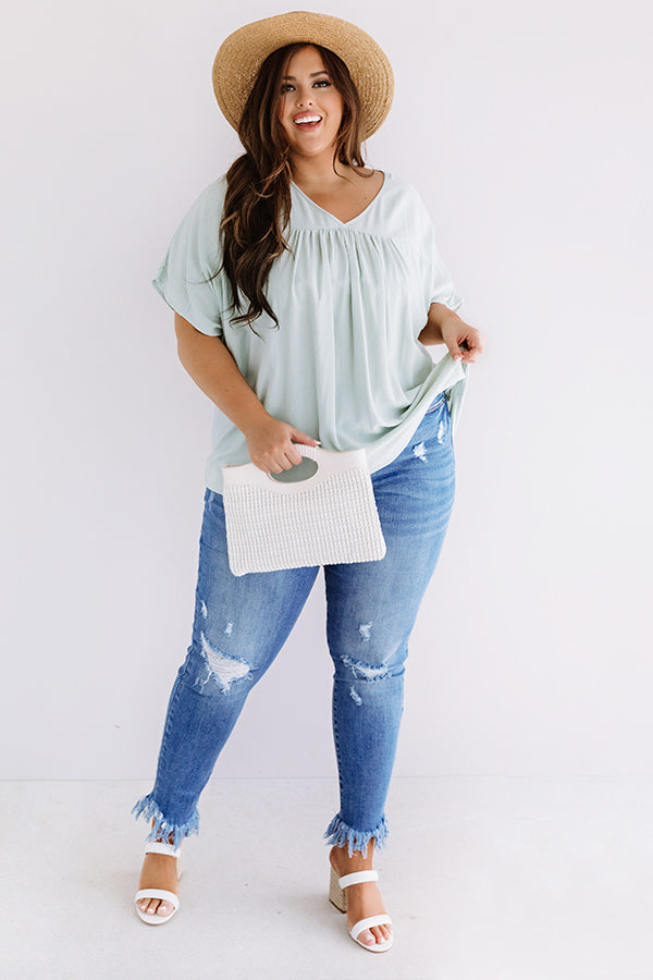 Chic Ashore Shift Top In Mint