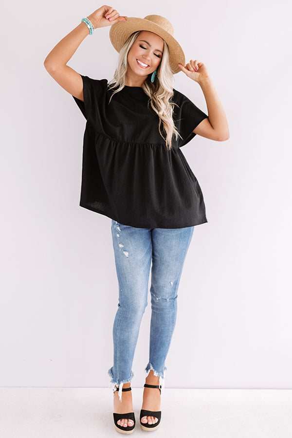 A Moment's Notice Shift Top In Black