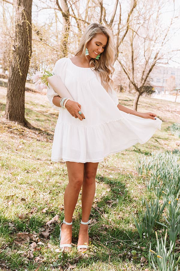 Destin Dawn Shift Dress In White