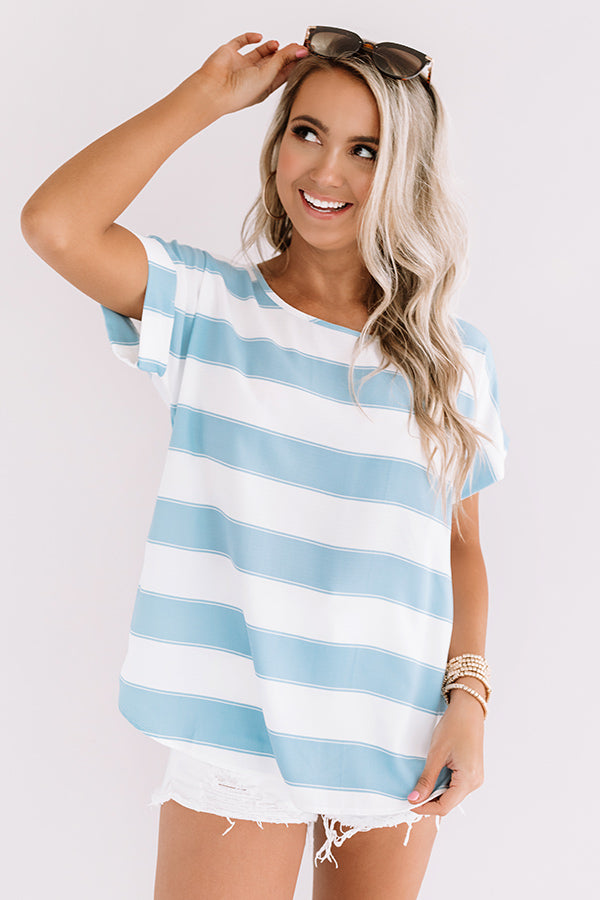 Act Casual Shift Top In Sky Blue