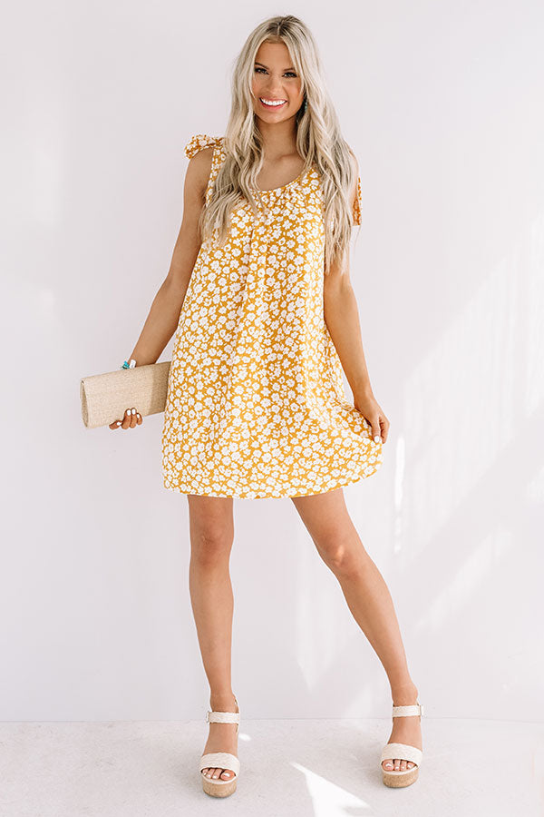 Kauai Cute Shift Dress In Honey
