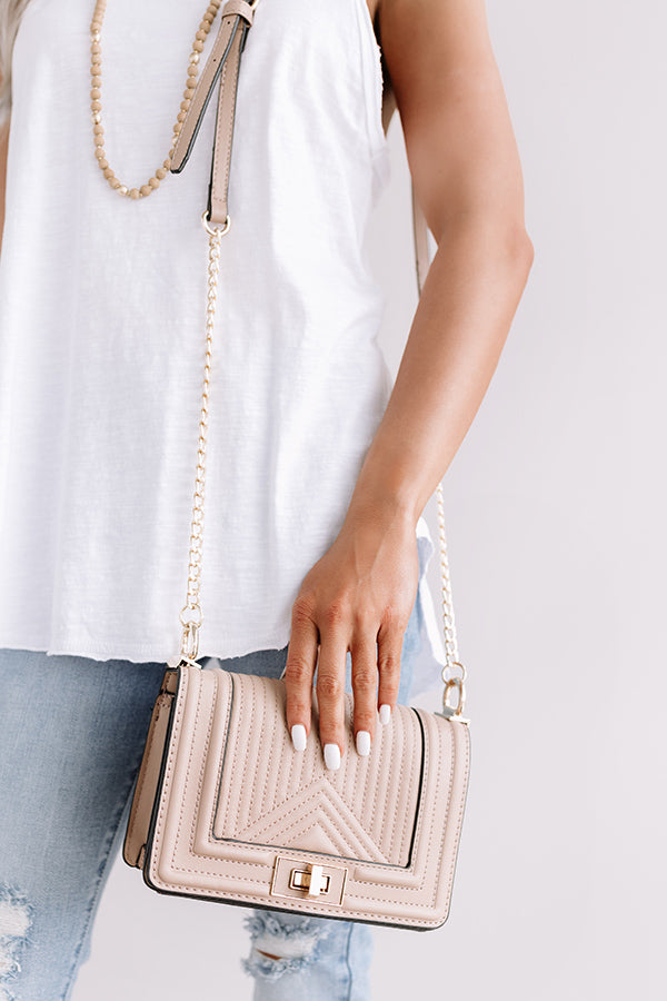 A Moment's Notice Crossbody In Warm Taupe