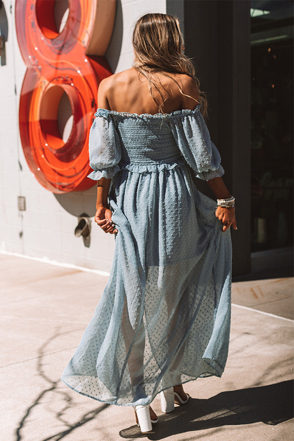 Key West Wonderful Maxi In Airy Blue