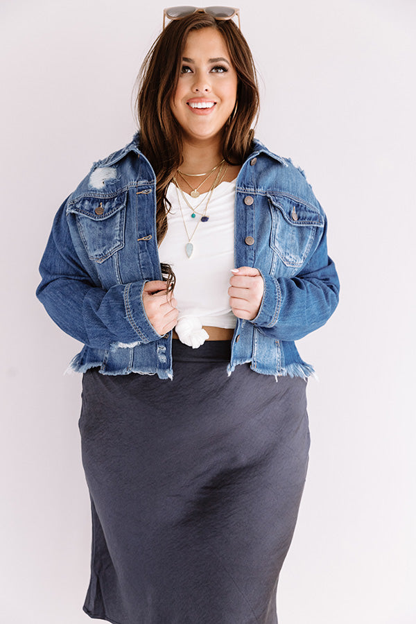 The Sisily Distressed Denim Jacket