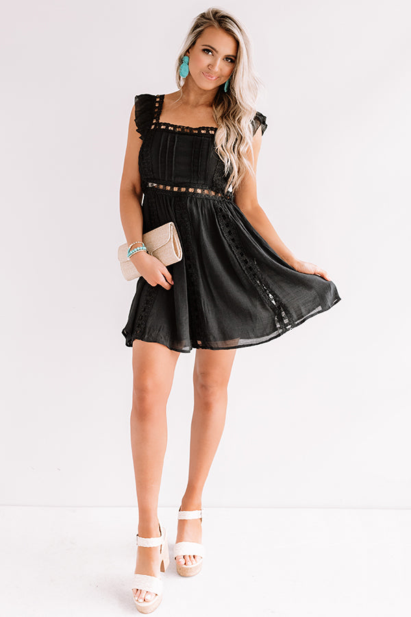 Postcard Perfection Lace Dress In Black