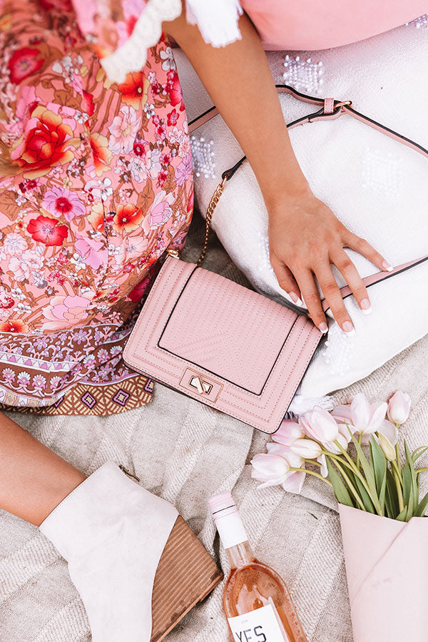 A Moment's Notice Crossbody In Blush
