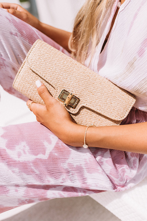 City Living Clutch In Tan