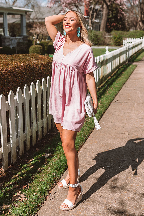 Pretty In Punta Cana Babydoll Dress In Pink