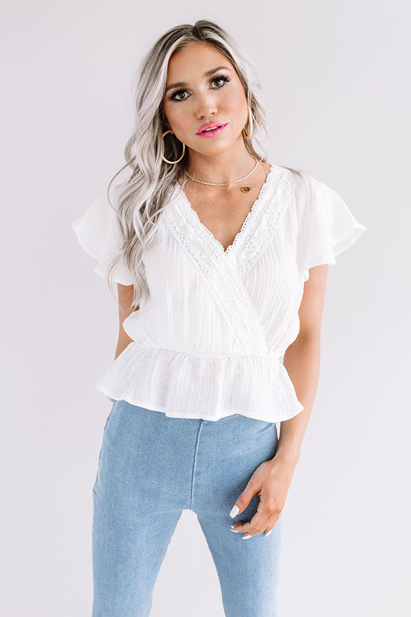 Beachy Brilliance Crochet Top In White