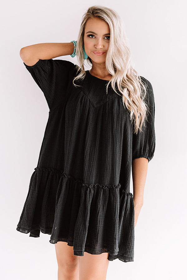 Destin Dawn Shift Dress In Black