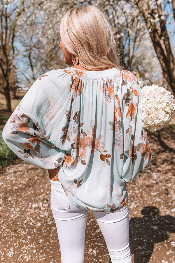 On Tropics Time Floral Shift Top