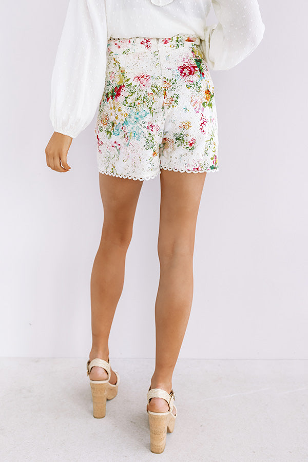 The Poet High Waist Eyelet Shorts