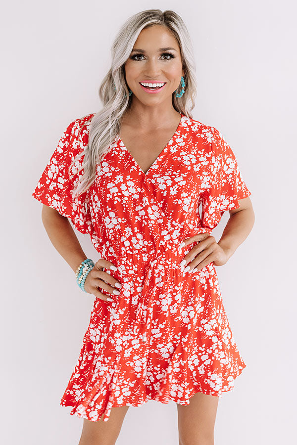 Cocktails And Cabanas Romper In Red