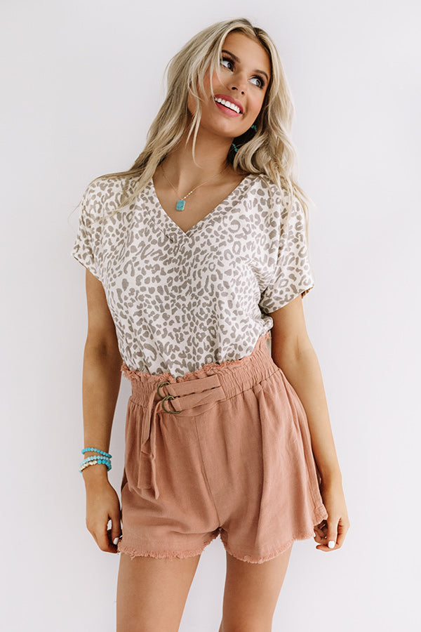 Clean Slate Leopard Top In Cream