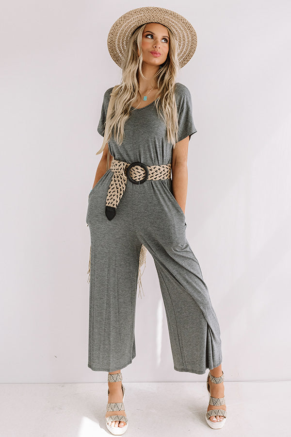 Vibe To This Jumpsuit in Dark Grey