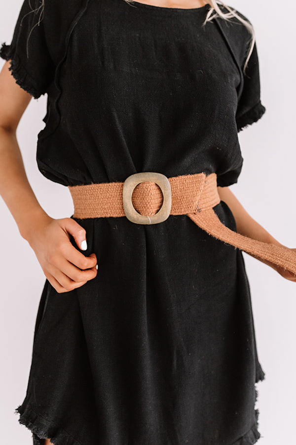 Chic Showstopper Woven Belt In Maple
