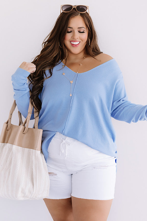Great Idea Shift Tunic In Sky Blue