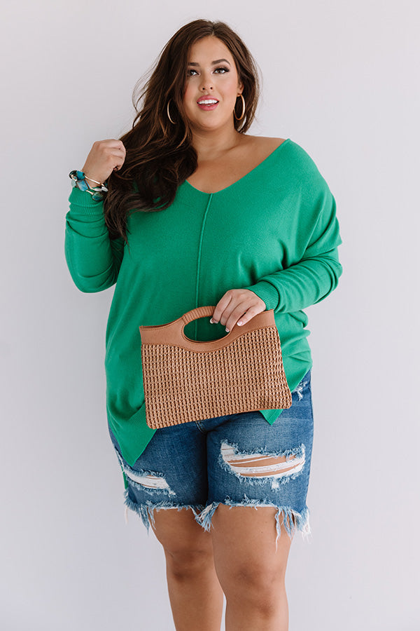 Great Idea Shift Tunic In Kelly Green