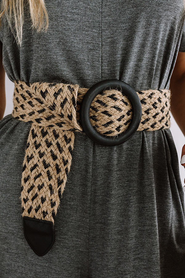 Style Muse Woven Belt In Black