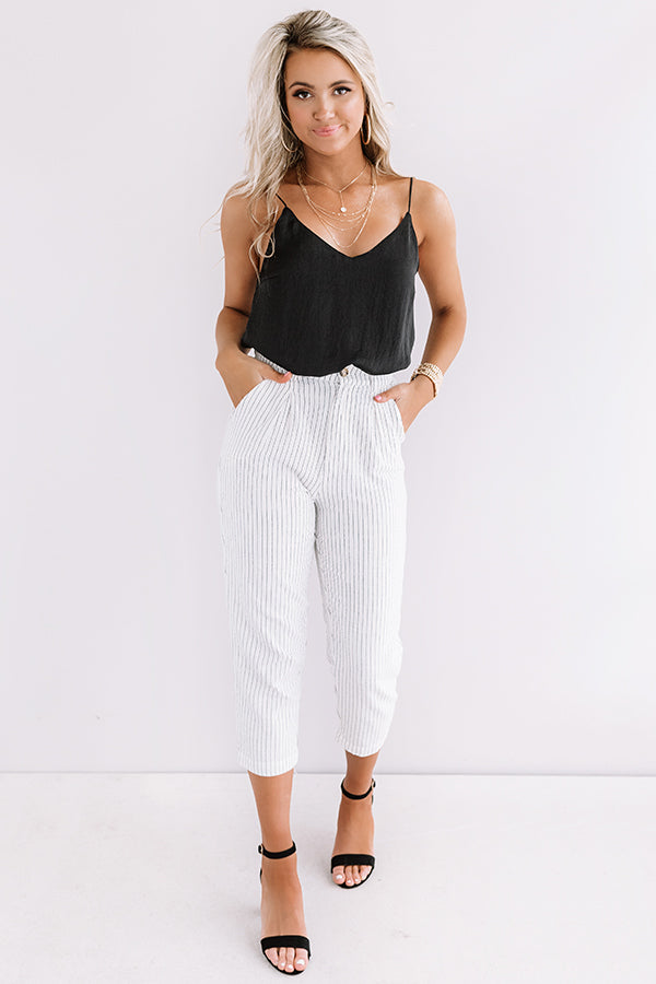 St. Barts Brunch High Waist Stripe Trousers
