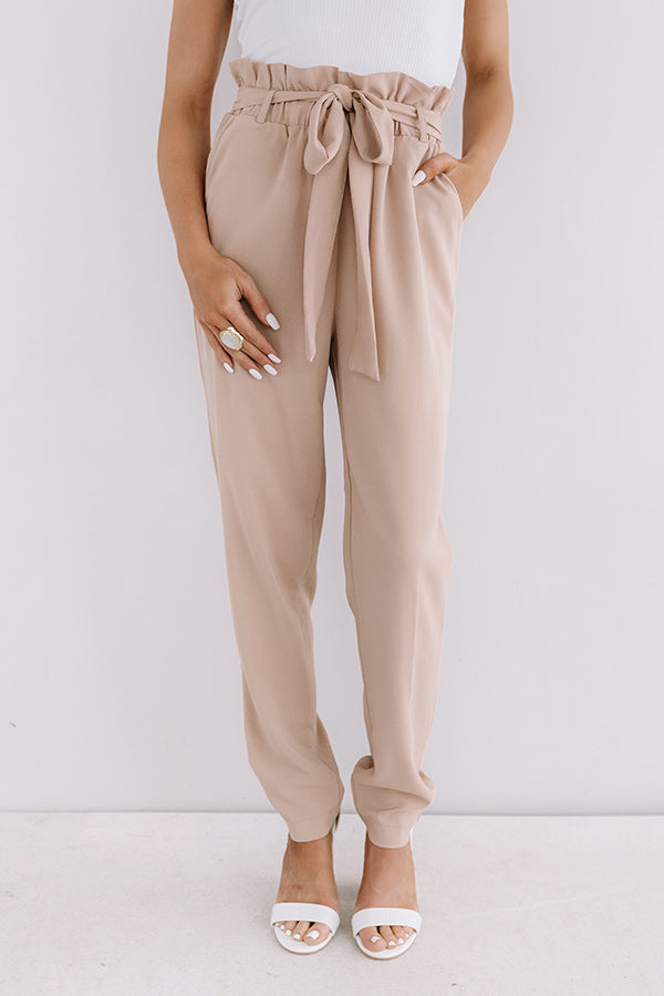 Style Session High Waist Trousers In Iced Mocha
