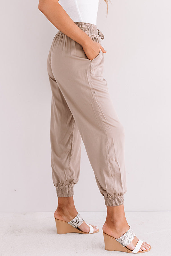 Side Hustle High Waist Pants In Iced Mocha