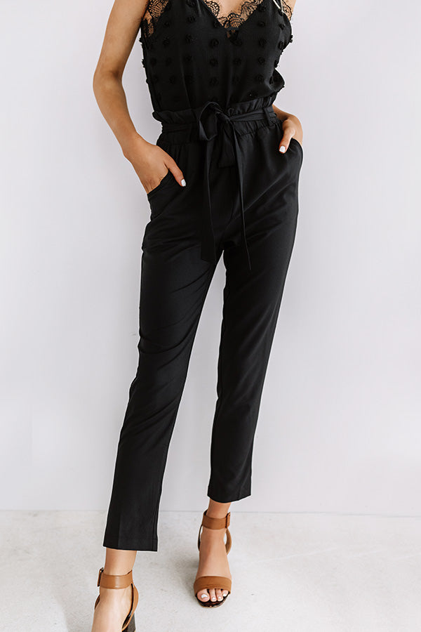 Style Session High Waist Trousers In Black