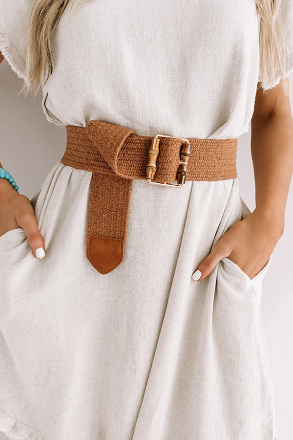 Chic Soleil Woven Belt In Maple