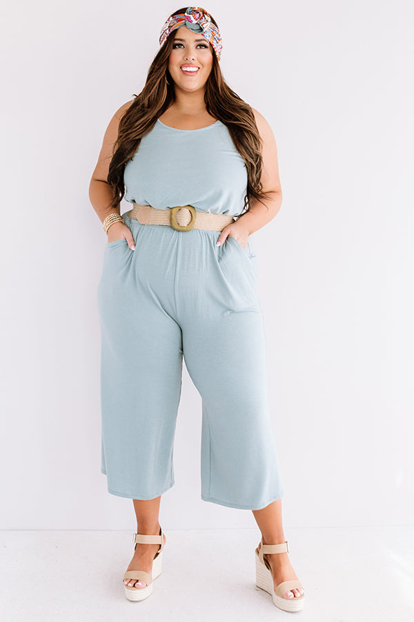 Down And Around Jumpsuit In Pear