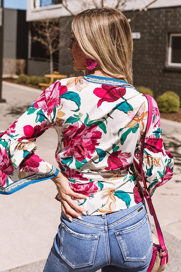 Floral Rush Wrap Top