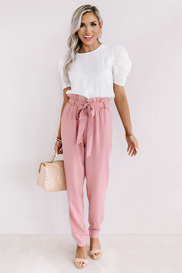 Style Session High Waist Trousers In Blush