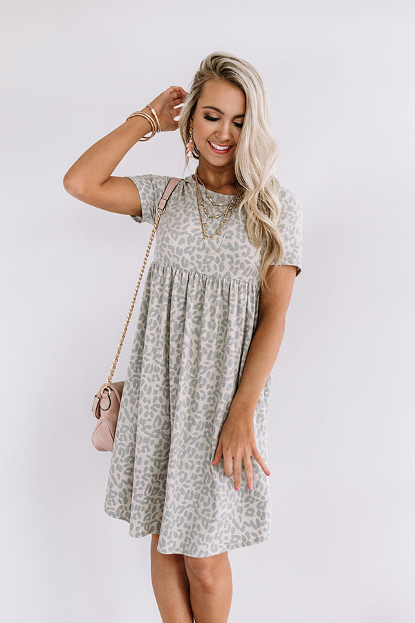 Sunkissed Style Leopard Babydoll Dress