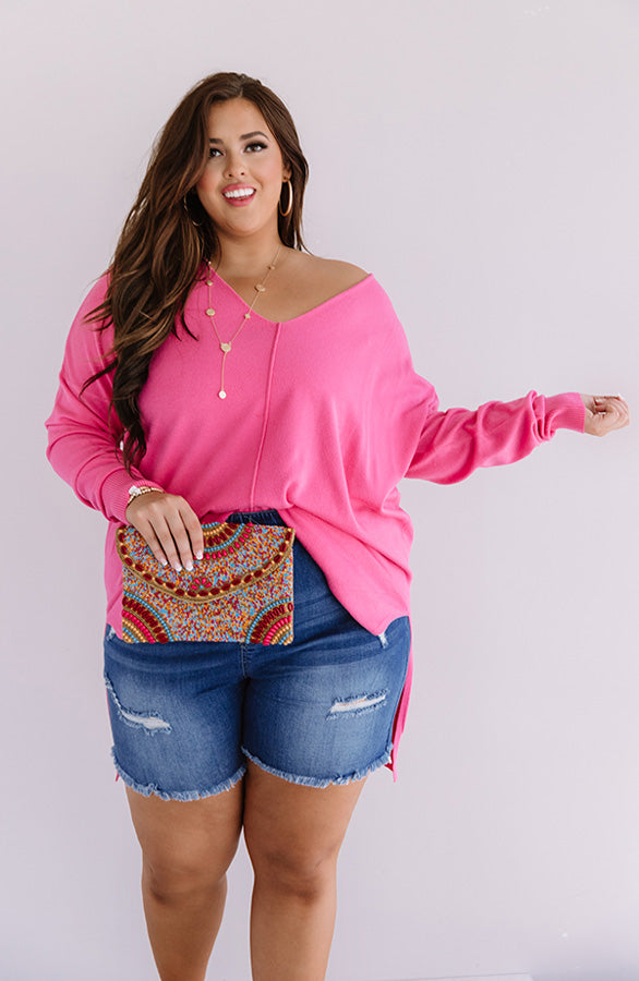 Great Idea Shift Tunic In Pink