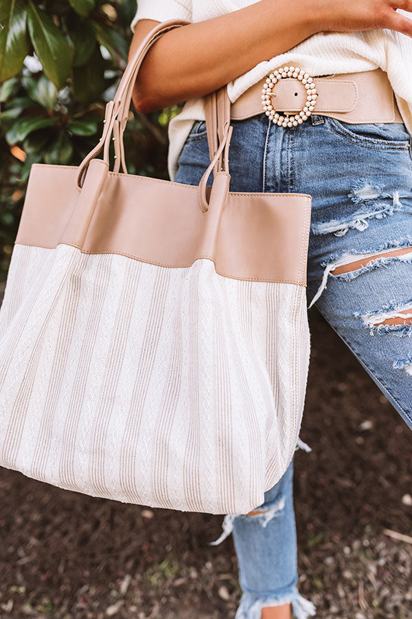 Chic Essentials Tote In Iced Latte