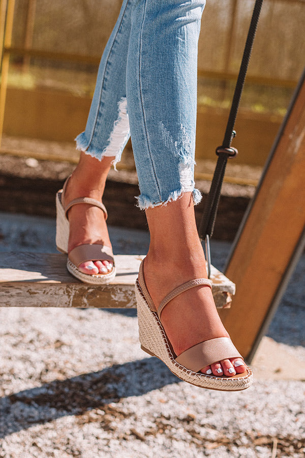 Steve Madden Mckenzie Wedge in Tan
