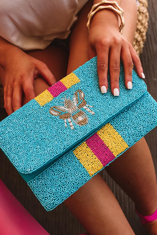 Tuscany For Two Beaded Clutch