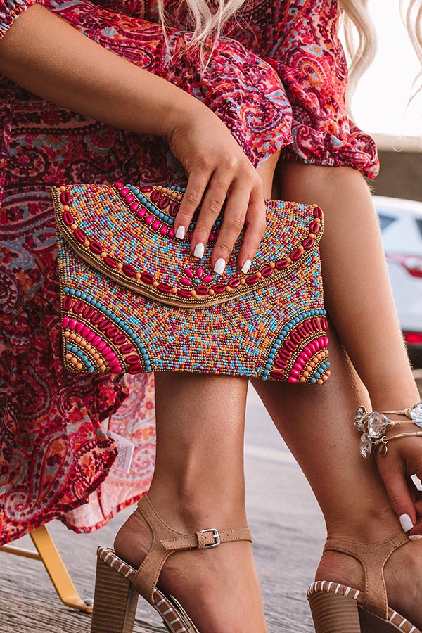 Destination Dreaming Beaded Clutch