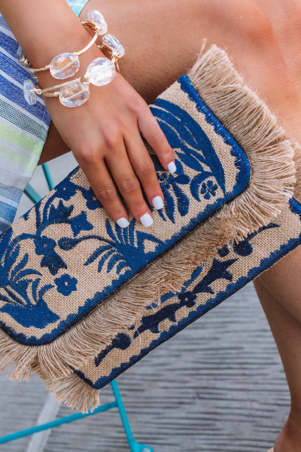 Treasure Of Tulum Embroidered Clutch