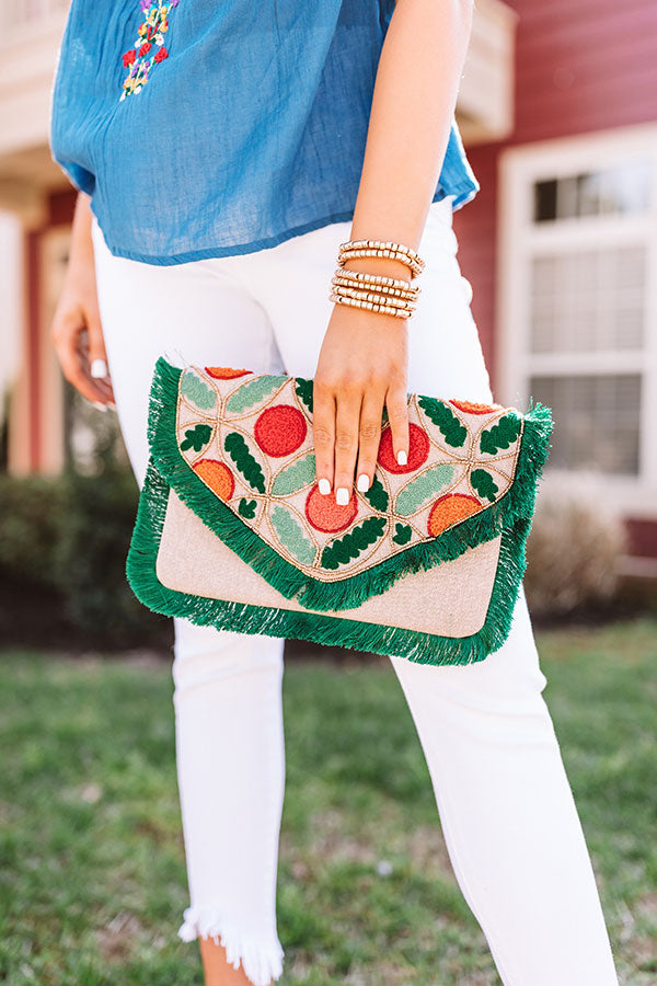 Posh By Paradise Embellished Clutch