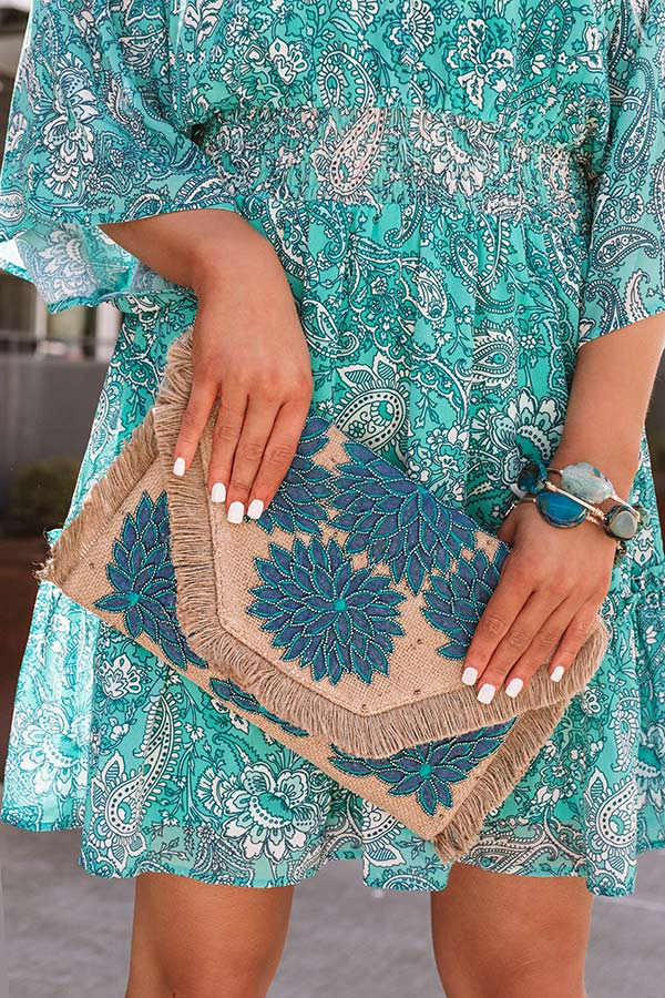 Cayman Views Embellished Clutch