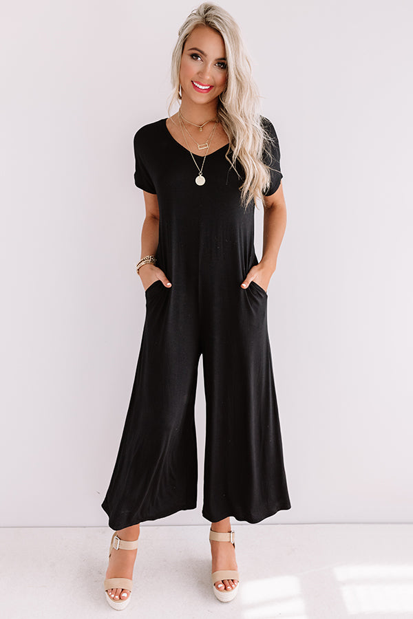 Vibe To This Jumpsuit In Black