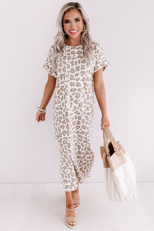 One Wish Away Leopard Midi In Birch
