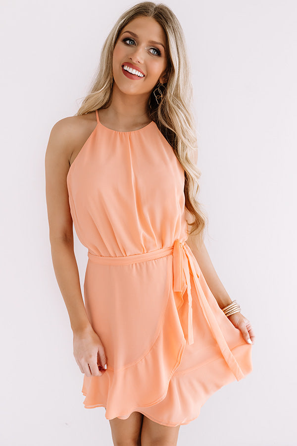 Celebrate With Champagne Dress In Peach