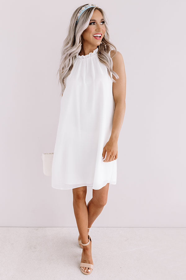Settle For Chic Shift Dress In White