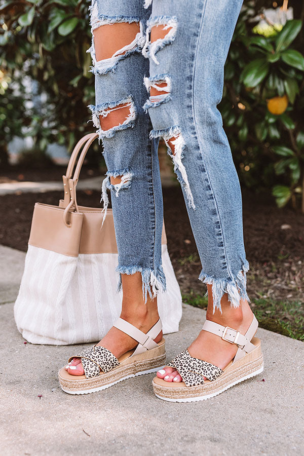The Tulia Espadrille In Cheetah Print