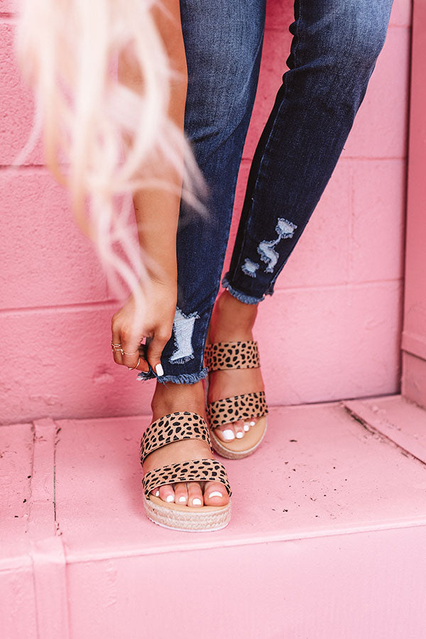 The Avonlea Espadrille In Cheetah Print