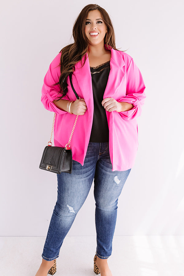 Fashion's Latest Blazer in Hot Pink