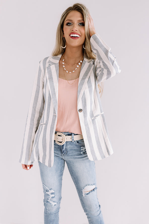 Call Me Chic Stripe Blazer